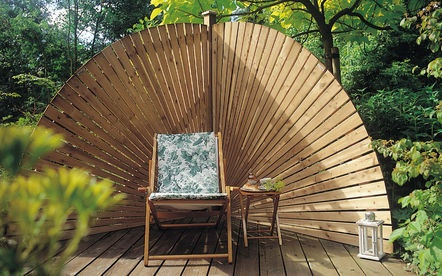 17 best images about tuinen met hillhout gardens with hillhout on pinterest gardens the - Pergola met intrekbaar canvas ...