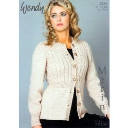 Fitted+Cardigan+in+Wendy+Merino+DK+(5530)+£2.99