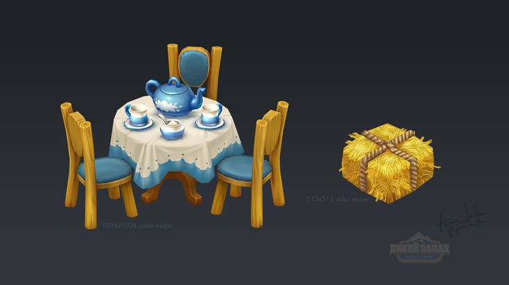 Hand painted texture of objects environment on Behance