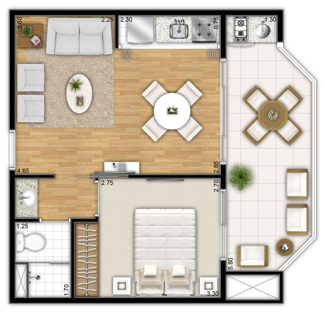 planta 1 dormitorio - Pesquisa Google