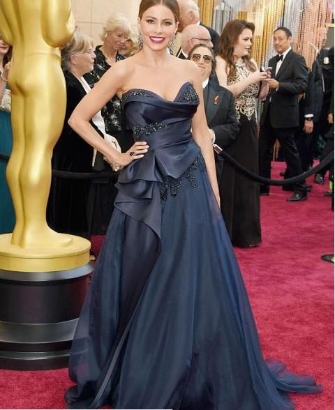 2016 Oscar Evening Dresses A Line Strapless Evening Dresses Long Dresses For Evening Wear Sexy Floor Length Prom Gowns Z392 Beautiful Evening Dress Black Plus Size Evening Dresses From Rosemarybridaldress, $131.66| Dhgate.Com