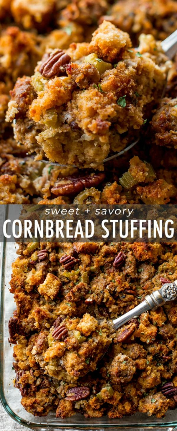Here's how to prepare Thanksgiving side dish cornbread stuffing ahead of time! T…
