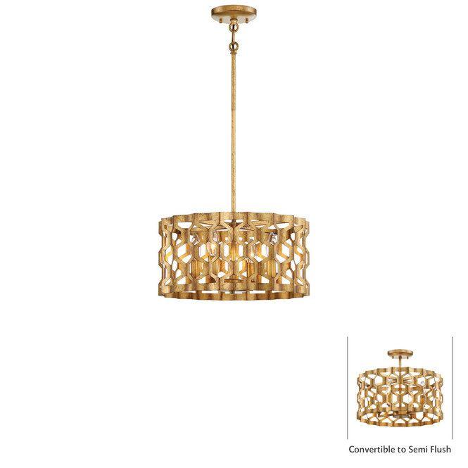Gold Leaf Honeycomb Convertible Ceiling Light 4 Light Ceiling Lights Entryway Light Fixtures Pandora Gold