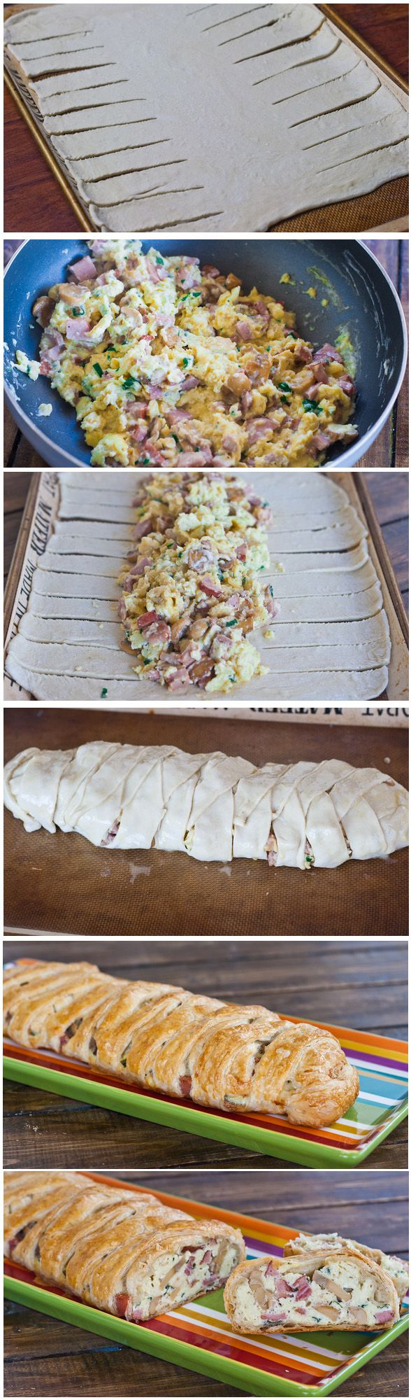 An entire breakfast or brunch wrapped in puff pastry.