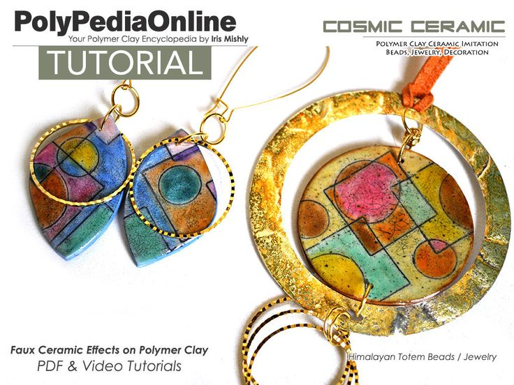 Polymer clay tutorial demonstrating how to create faux ceramic beads made of polymer! VIDEO INCLUDED! #polymerclaytutorial #polymerclay #polymerclayjewelry #polymerclaybeads