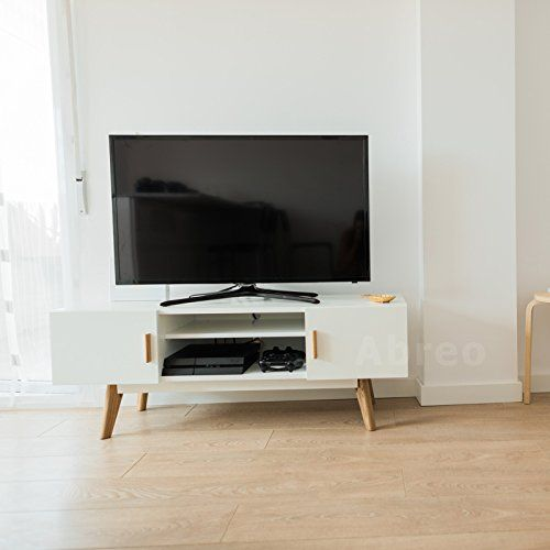 Abreo Scandinavian White Retro TV Stand For 32`` to 55`` Television Entertainment Unit Cabinet with Shelve This Scandinavian Furniture Range gives your home the professional Interior designed look. All the furniture is clean and modern looking making your home look fresh, invi (Barcode EAN = 0700461603115) http://www.comparestoreprices.co.uk/december-2016-4/abreo-scandinavian-white-retro-tv-stand-for-32-to-55-television-entertainment-unit-cabinet-with-shelve.asp