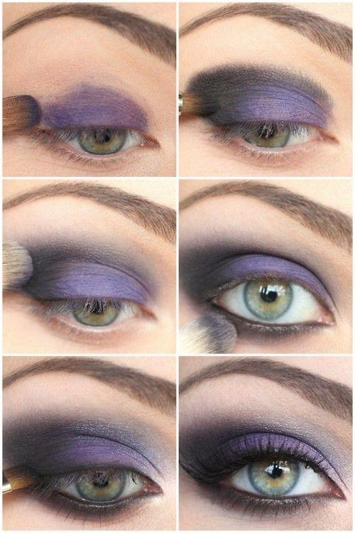 Purple smokey eye makeup eyeshadow color smoky beauty #makeup