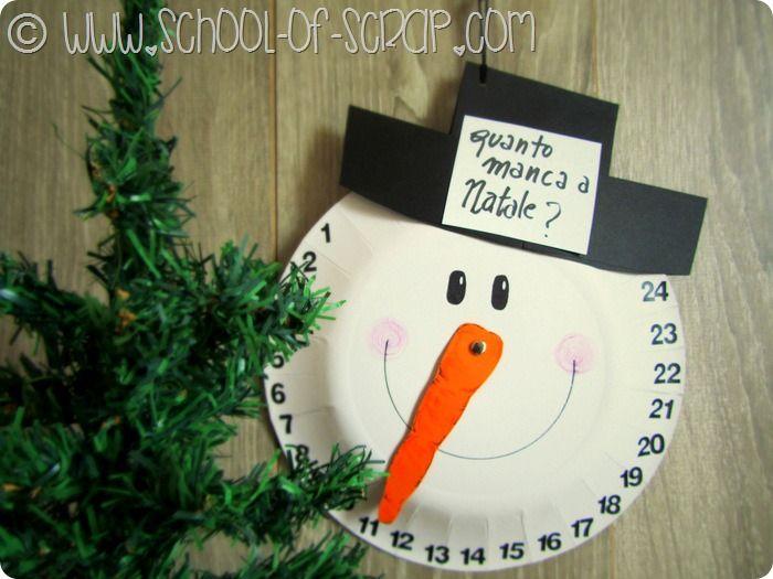 Natale in 1 minuto: il calendario dell'avvento da fare con un piatto di carta