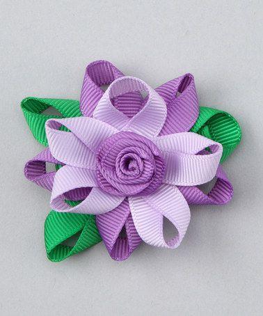 Purple Flower Clip by Loopy Loos #zulily #zulilyfinds