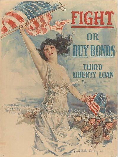 Howard Chandler Christy - Fight or Buy Bonds Third Liberty Loan