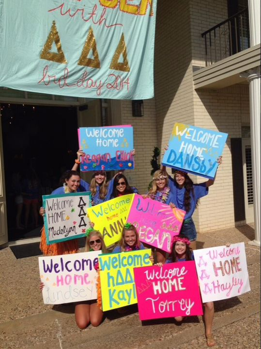Bid day is a very exciting time. Welcome home your new members in a memorable way!