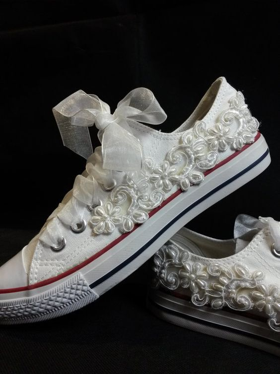 scarpe converse da sposa