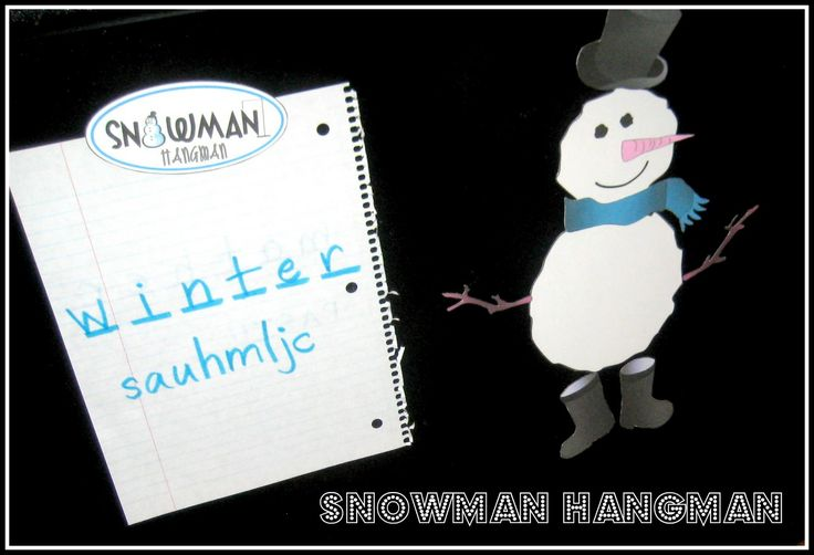 Relentlessly Fun, Deceptively Educational: Magnetic Snowman Hangman [Spelling Practice]