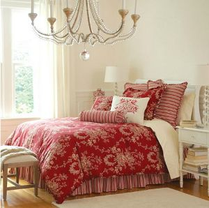 Toile Bedding Red French Country Toile Bedding For Spring Bedding Selecti