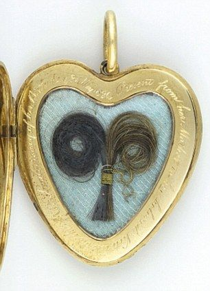 Queen Victoria's locket containing a lock of hair from both of her parents