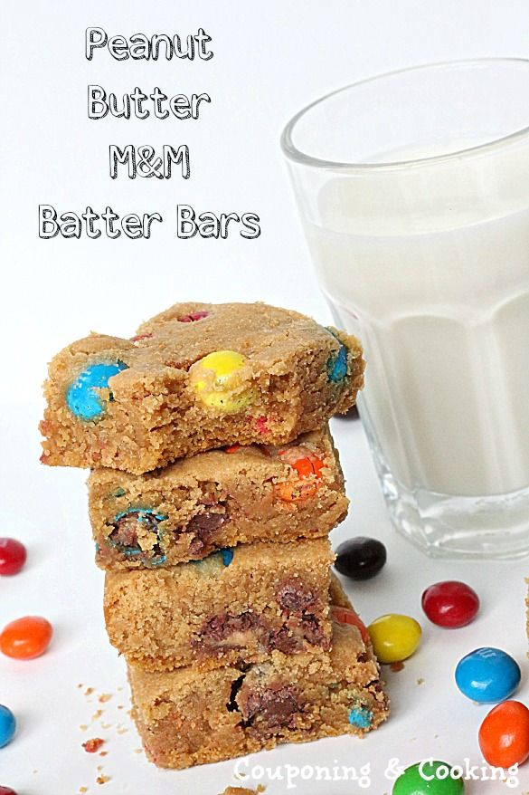 Peanut Butter M and M Bars #dessert