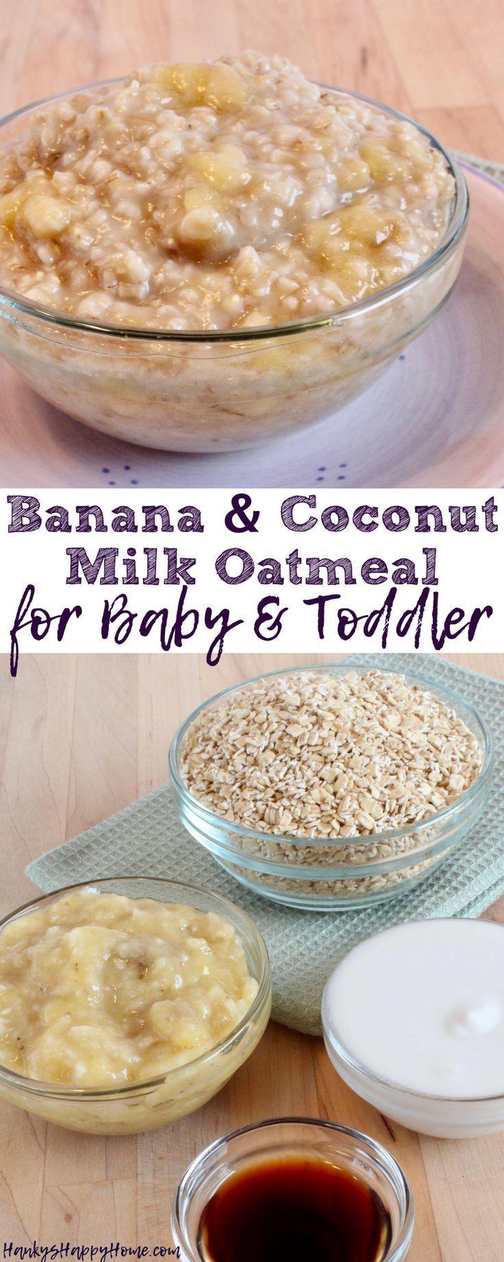 This Banana & Coconut Milk Oatmeal combines wholesome oatmeal, sweet bananas, an…