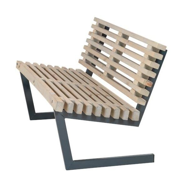 Siesta 138 Cm Banc A Lattes De Jardin Lounge Design Avec Dossier Lasure Style Bois Flotte Mobilier De Balcon Meuble Fer Mobilier De Salon