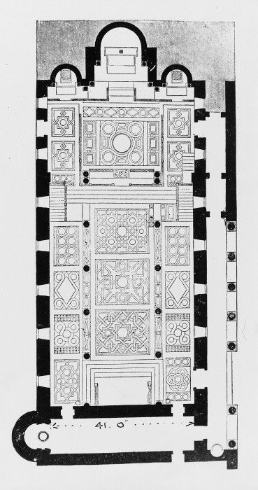 Floor plan and pavement patterns of the Cappella Palatina - Palermo - 12th century  Byzantine