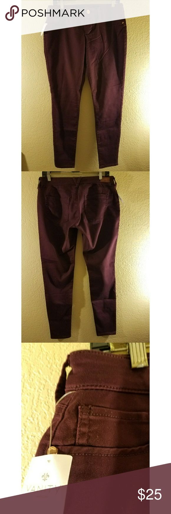 Purple Vanity skinnies Vanity brand purple skinny pants New with tags Womens size 30 No trades  Most offers will be considered  Bundle and save Vanity Pants Skinny
