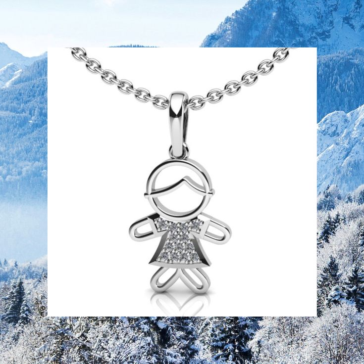 Elegant boy-pendant from 14k white gold with 13 diamonds weight 0,039 carats - the best gift to mother at discharge from hospital, for the Christmas and in general without reason) We can get engraved this pendant with the name and date of birth of the baby. Price 204$ (without chain)