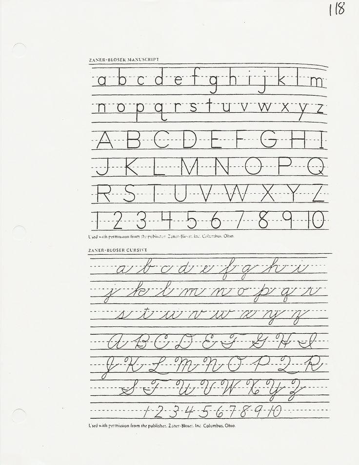 Handwriting ©2020 Teach All Students to Shine Zaner