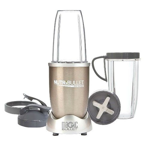 Prepare your favorite smoothie drinks at home, then take it with you on the go, using the NutriBullet Pro 900 Blender/Mixer from Magic Bullet. With 900 watts of power, the high-torque power base fuels this blender to extract even the toughest ingredients faster and more efficiently. The extractor blade's unique design generates the power to break through tough seeds, stems and skin to access the nutrition inside your desired fruits and veggies. You'll love being able to take your...