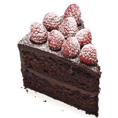 Chocolate Raspberry Layer Cake Recipe  | Epicurious.com