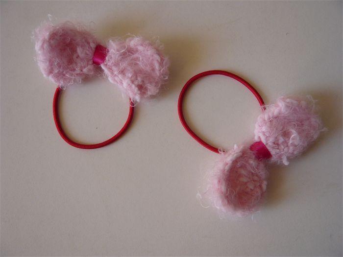 """ FAIRY FLOSS "" hair bow tie pink - SET OF 2 | riri & lolo | madeit.com.au"