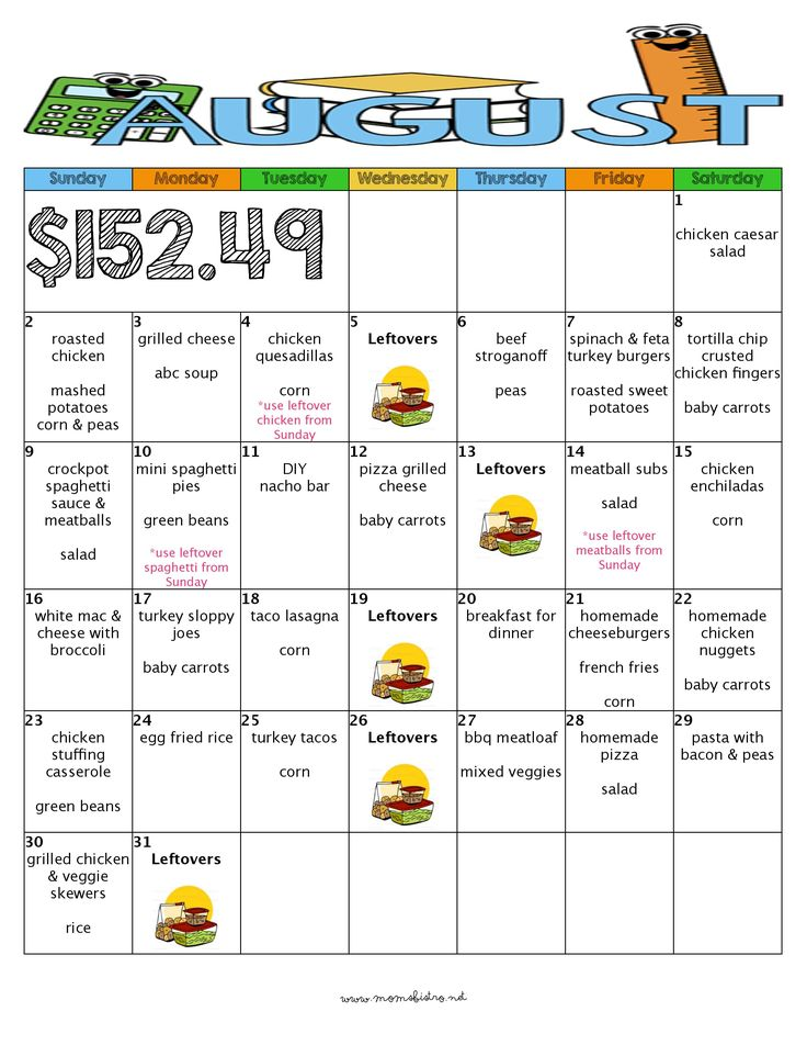 154 best menus images on Pinterest Weekly meal plans, Monthly - meal plans