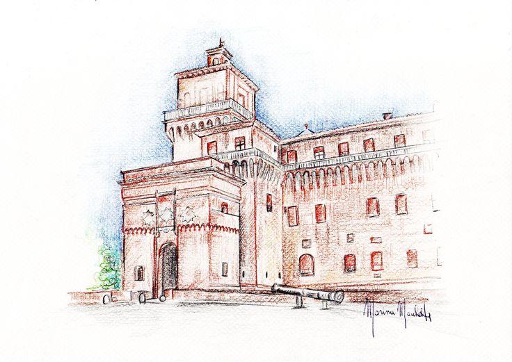 #Castello Estense# Ferrara#marinamarchetti#disegni