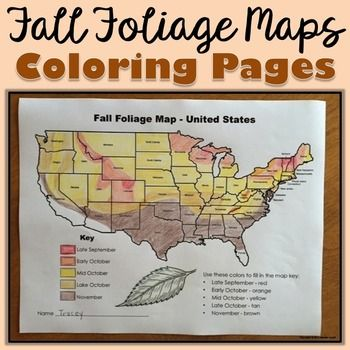 Best Fun Fall Facts Images On Pinterest Fall Fall Leaves And - Us fall foliage map