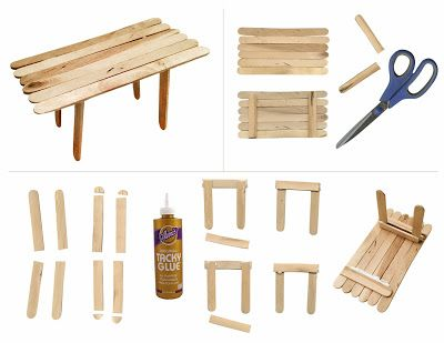 Art Projects for Kids: How to Make a Popsicle Table. Step-by-step PDF tutorial.