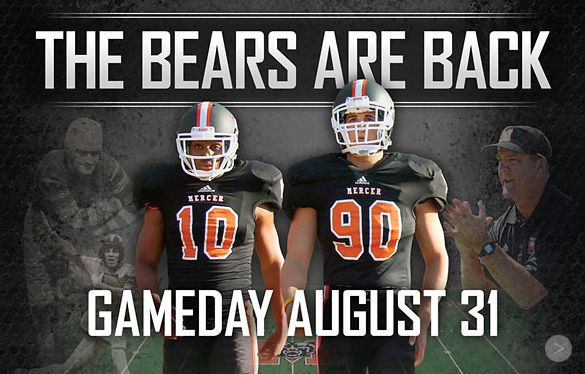 The Bears are Back 8/31/2013 vs Reinhardt @ 6:00pm