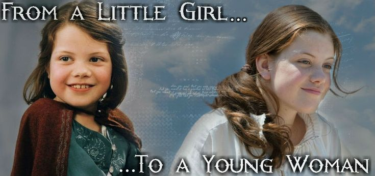 Lucy Pevensie; From a Little Girl to a Young Woman {Graphic made by Evelyn Ashby/Ivory from www.ivorycat.weebly.com}