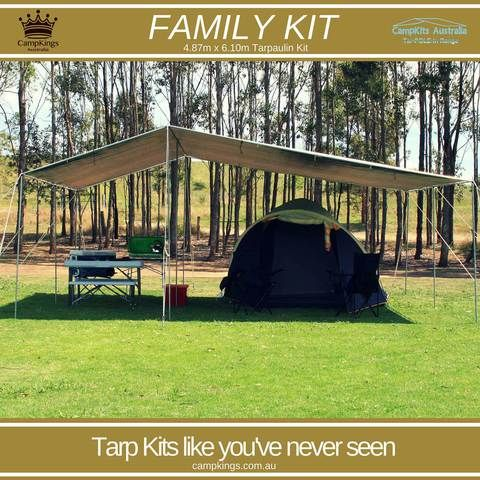 FAMILY KIT | 16Ft x 20Ft | Solo person 45 Minute tarpaulin set up