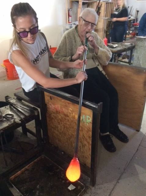 Princeton resident's took an trip to Asbury Park's Hot Sands as they learned about the art and technique of glass blowing, a first artistic endeavor for all