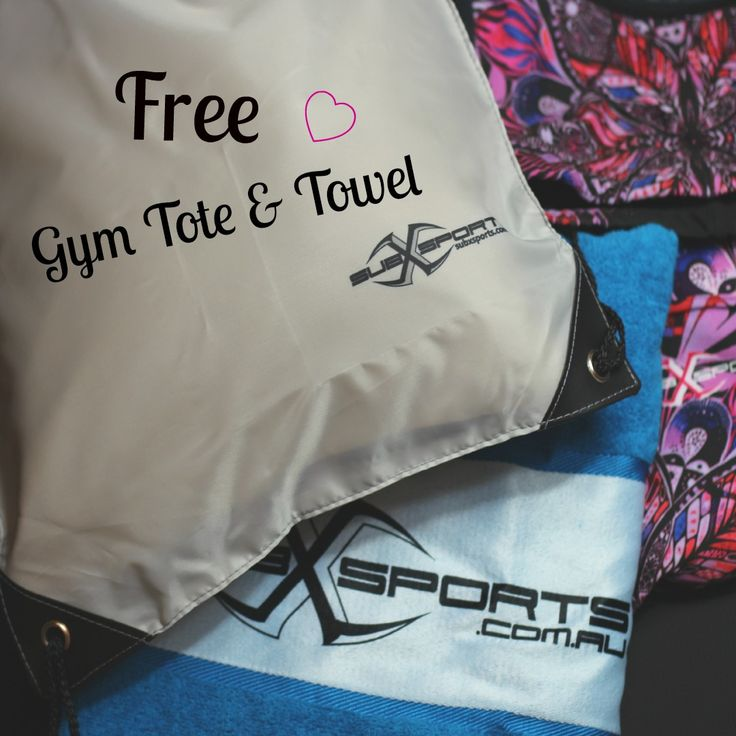 FREE Gym Tote and Towel with every leggings or tight purchased from subXsports active! Limited time only xx
