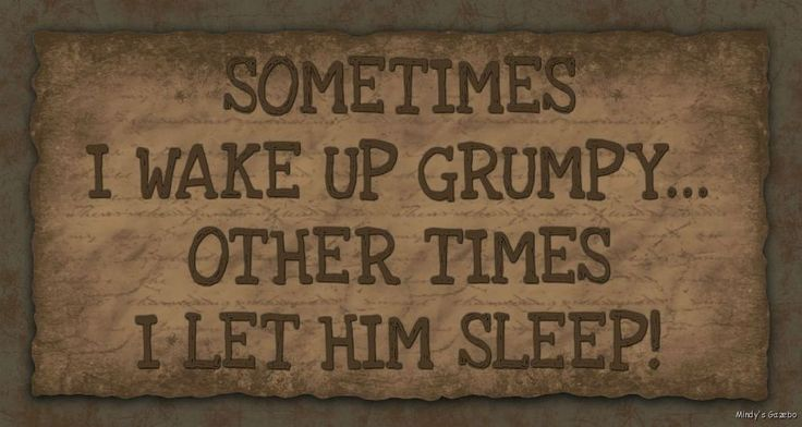 Primitive Wood funny sign SOMETIMES I WAKE UP GRUMPY Rustic Country Home Decor #Handmade