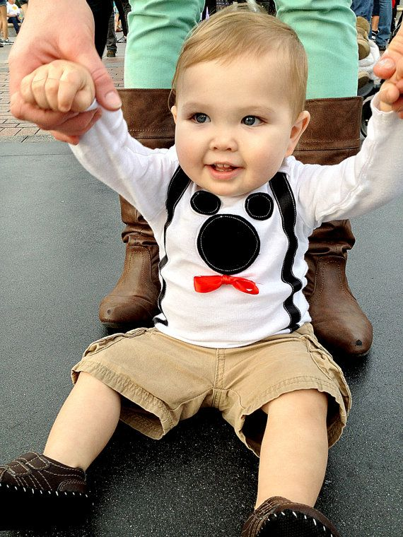 MICKEY MOUSE SUSPENDERS Outfit Bow Tie & Suspenders Onesie Christmas Outfit Birthday Outfit Disneyland Outfit Baby Boy Outfit Mickey Costume on Etsy, $27.99