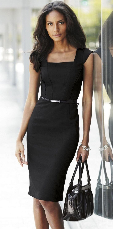 3d10645f3876b7a 30+ модных образов, как носить платье в офис #outfitinspiration  #outfitideasforwomen #officelook #workoutfit #стиль #мода