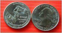 США квотер 25 центов 2015 Парк Саратога Нью Йорк монетный двор D Рузвельт