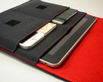 Google Nexus 9 Sleeve / Google Nexus 9 Case / Google Nexus 9 Cover in Various Outer and Inner Colours of 100% Wool Felt