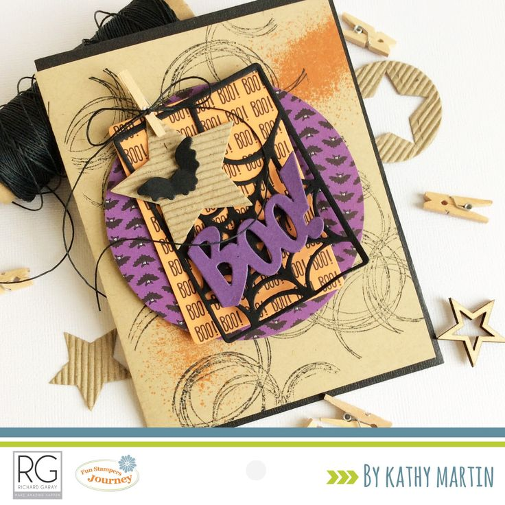 Boo! by Kathy Martin for Journey Blooms using Fun Stampers Journey stamps, dies and supplies.