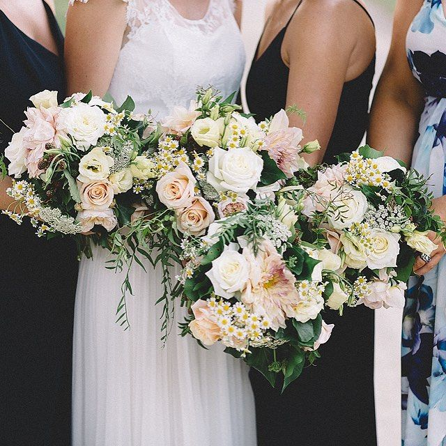 Blush pink peonies in Bride bouquet by Poppy Culture at Mornington Peninsula wedding. Image by Vanessa Norris Photography.