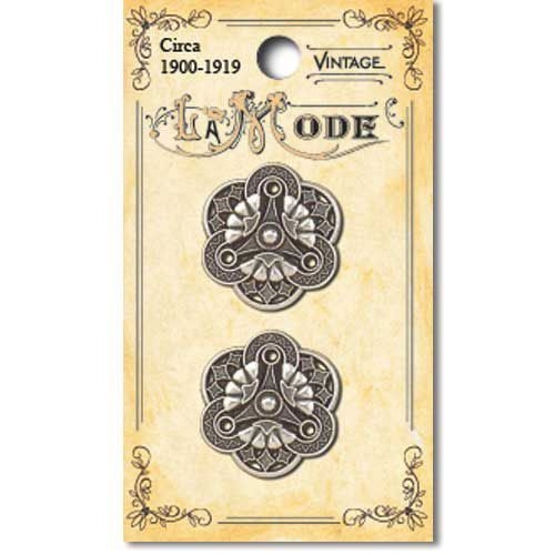 Antique Silver Art Deco Filigree 170001728 - Blumenthal Lansing buttons