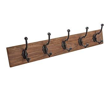 Perchero de pared con 5 ganchos