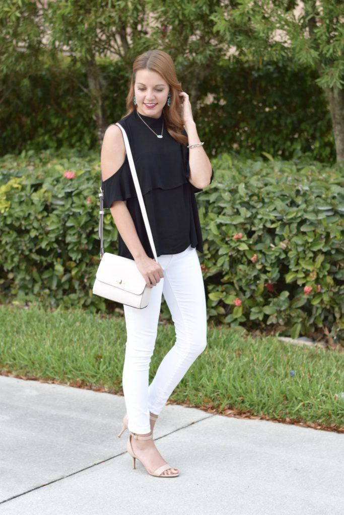 Cold Shoulder Top under $50 | Spring Top under $50 | spring style | spring fashion | fashion for spring and summer | warm weather fashion | style tips for spring | fashion tips for spring || Absolutely Annie