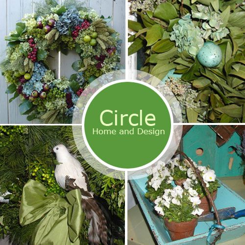 Circle Home and Design is a home decor company specializing in handcrafted natural wreaths and arrangements.