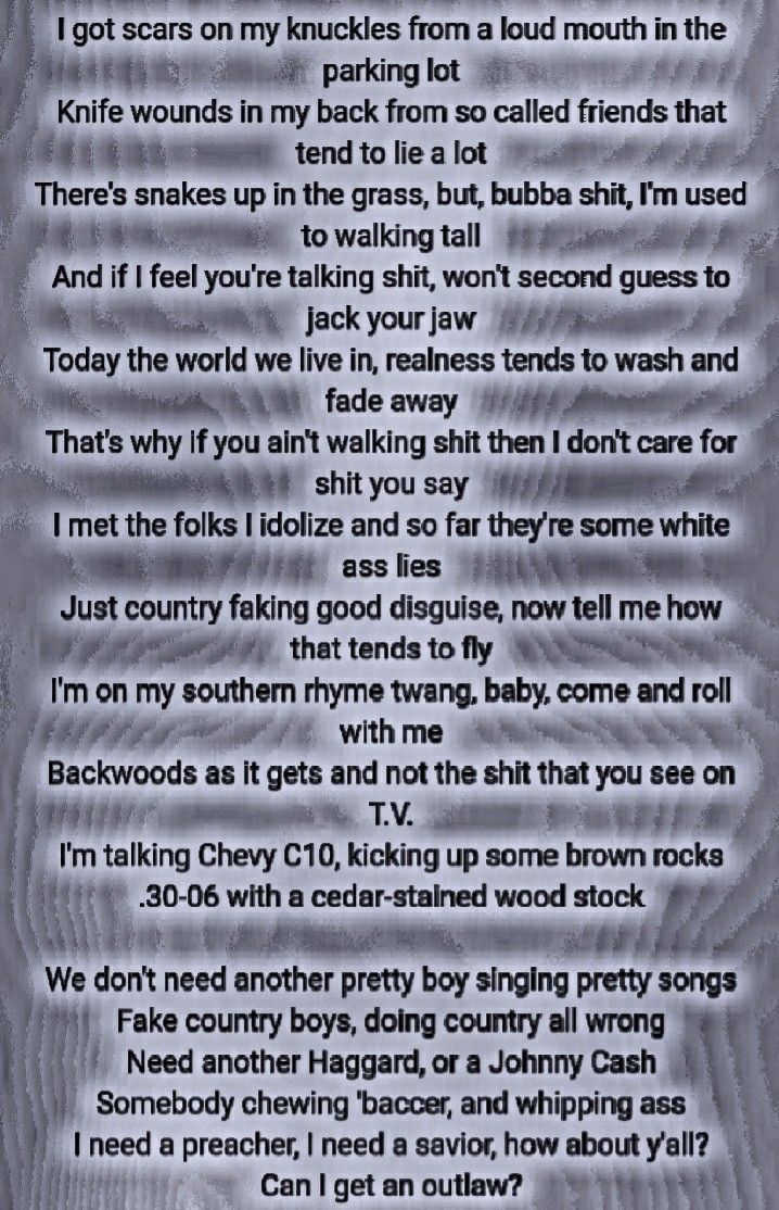 Upchurch Outlaw Upchurch Pinterest Country Song Lyrics Song